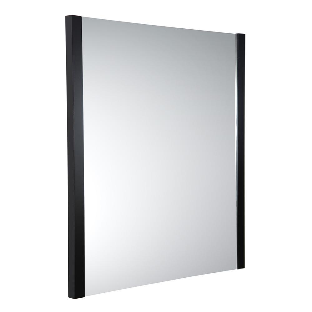 Torino 25.50 in. W x 31.50 in. H Side Framed Wall Mirror in Espresso