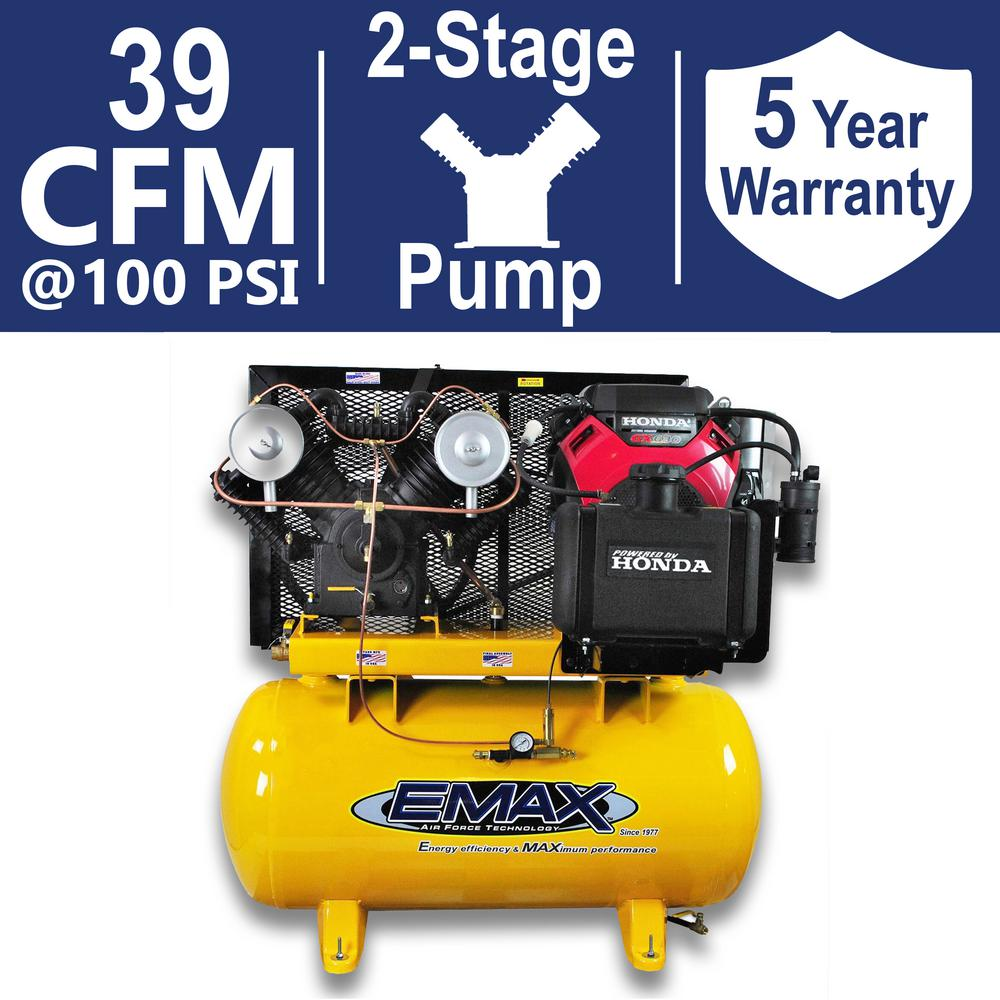 Industrial PLUS Series 60 Gal. 18 HP 2-Stage Stationary Gasoline Air