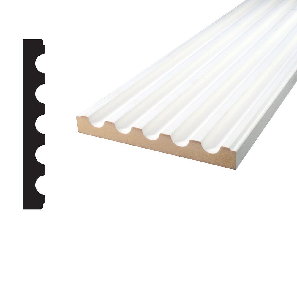 11/16 in. x 5-1/4 in. x 96 in. Primed MDF Fluted