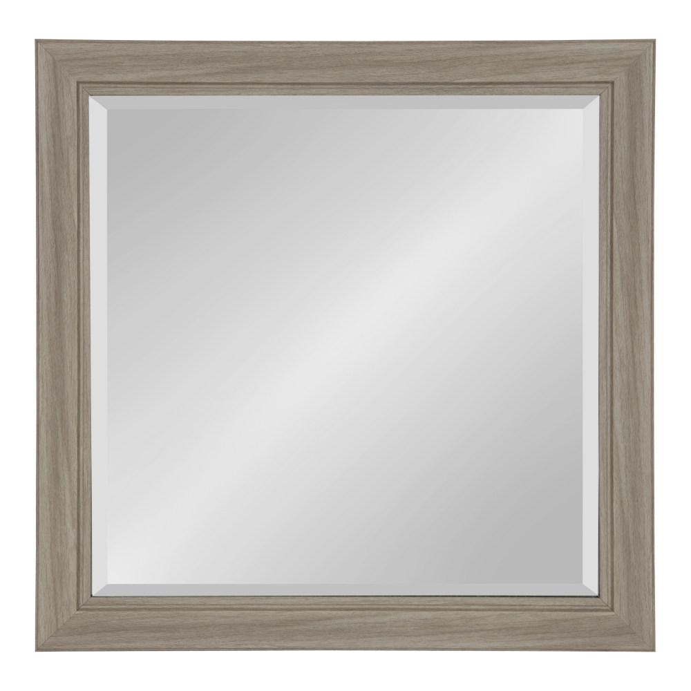 Dalat Rectangle 24 in. x 24 in. Gray Framed Wall Mirror