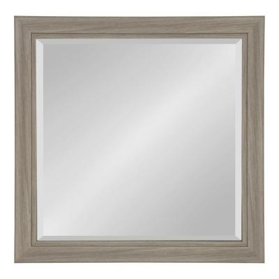 Dalat Rectangle 24 in. x 24 in. Gray Framed Wall Mirror