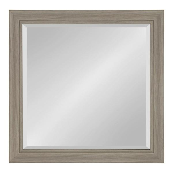 Kate and Laurel Dalat Rectangle 24 in. x 24 in. Gray Framed Wall Mirror