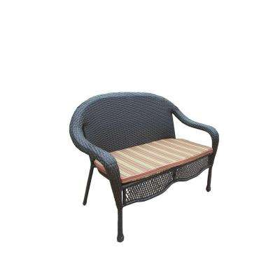 Elite Resin Wicker Patio Loveseat With Cushion