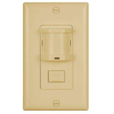 500 Watt Occupancy Motion Sensor With Passive Infrared Switch Light   Ivory