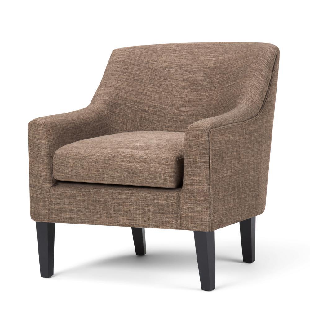 Pauline Fawn Brown Polyester Club Arm Chair