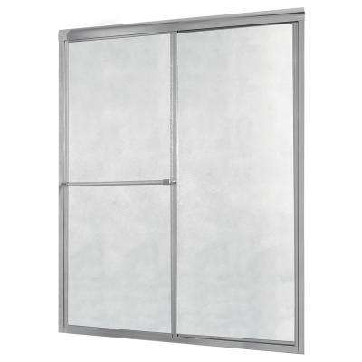 Tides 44 in. to 48 in. x 70 in. H Framed Sliding Shower Door in Silver and Obscure Glass without Handle