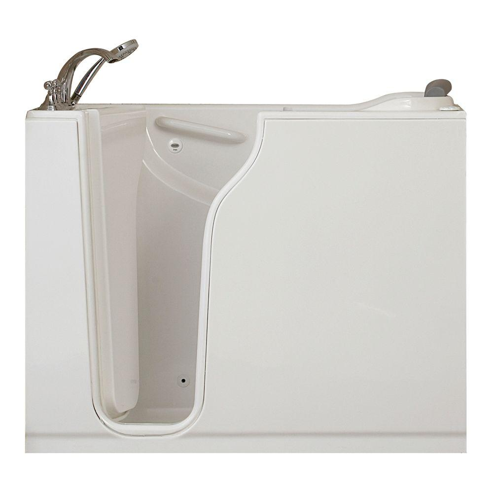 American Standard Gelcoat Standard Series 52 in. x 30 in. Walk-In Whirlpool Tub with Quick Drain in White