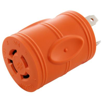 TT-30P TRAVEL TRAILER RV MALE PLUG to 6-50R 3-PIN WELDER RECEPTACLE ADAPTER 125V