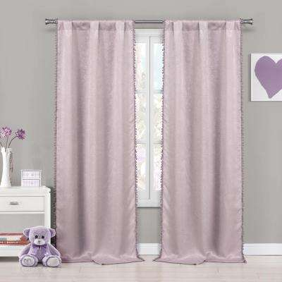 Tucker 37 in. W x 84 in. L Polyester Window Panel in Pretty Pink