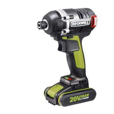 20-Volt Lithium-Ion 1/4 in. Hex Cordless Brushless Impact Driver