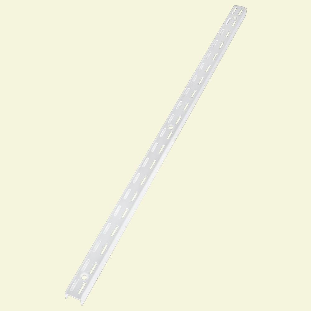 25 in. White Twin Track Upright for Wire Shelving