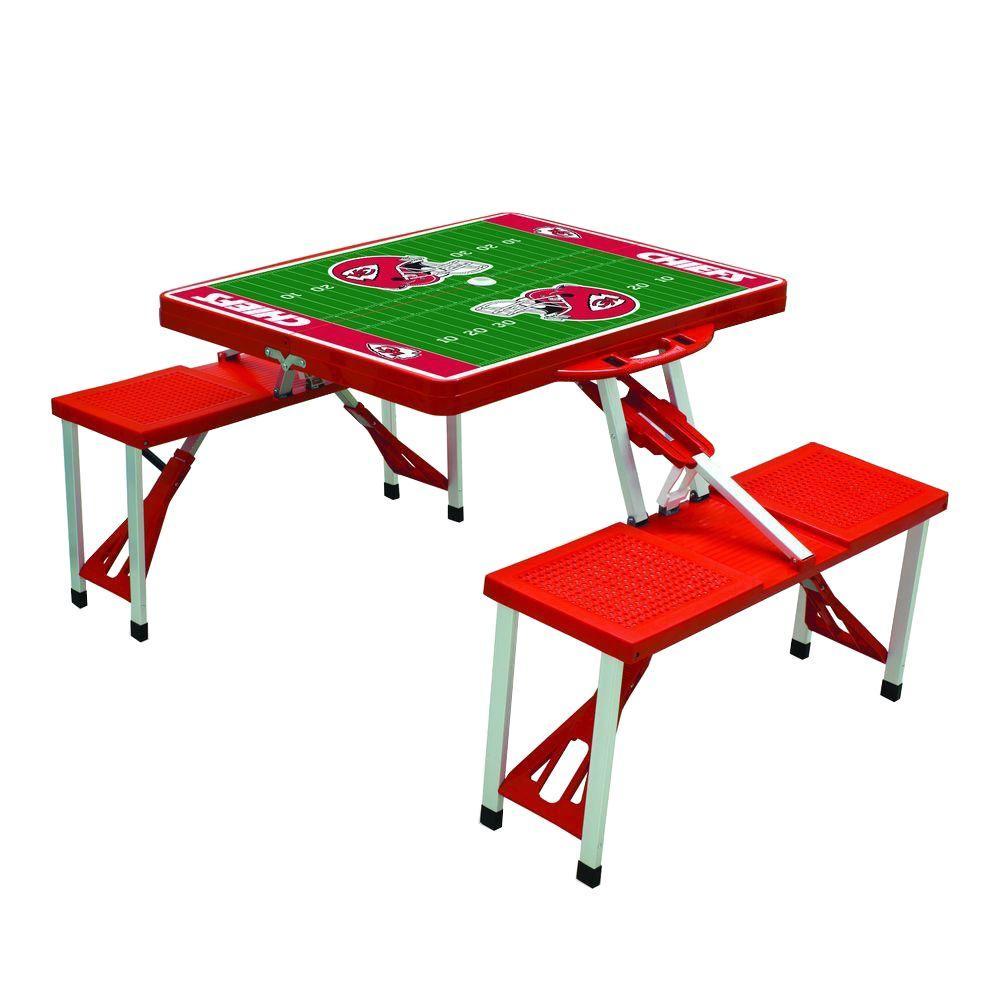 Kansas City Chiefs Sport Plastic Outdoor Patio Picnic Table