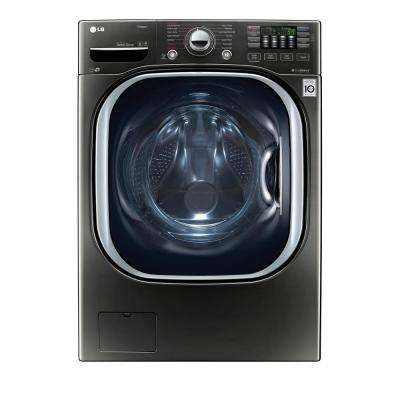 4.5 cu. ft. High-Efficiency Front Load Washer with Steam and TurboWash in Black Stainless Steel, ENERGY STAR