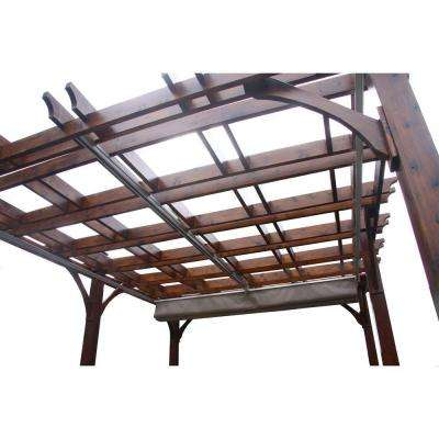 Breeze Cedar 12 ft. x 16 ft. Pergola with Retractable Canopy