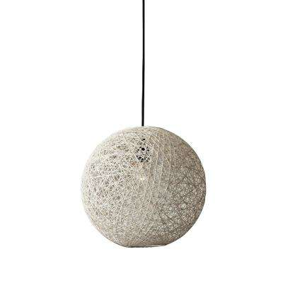 Havana 1-Light Cream Rattan Pendant