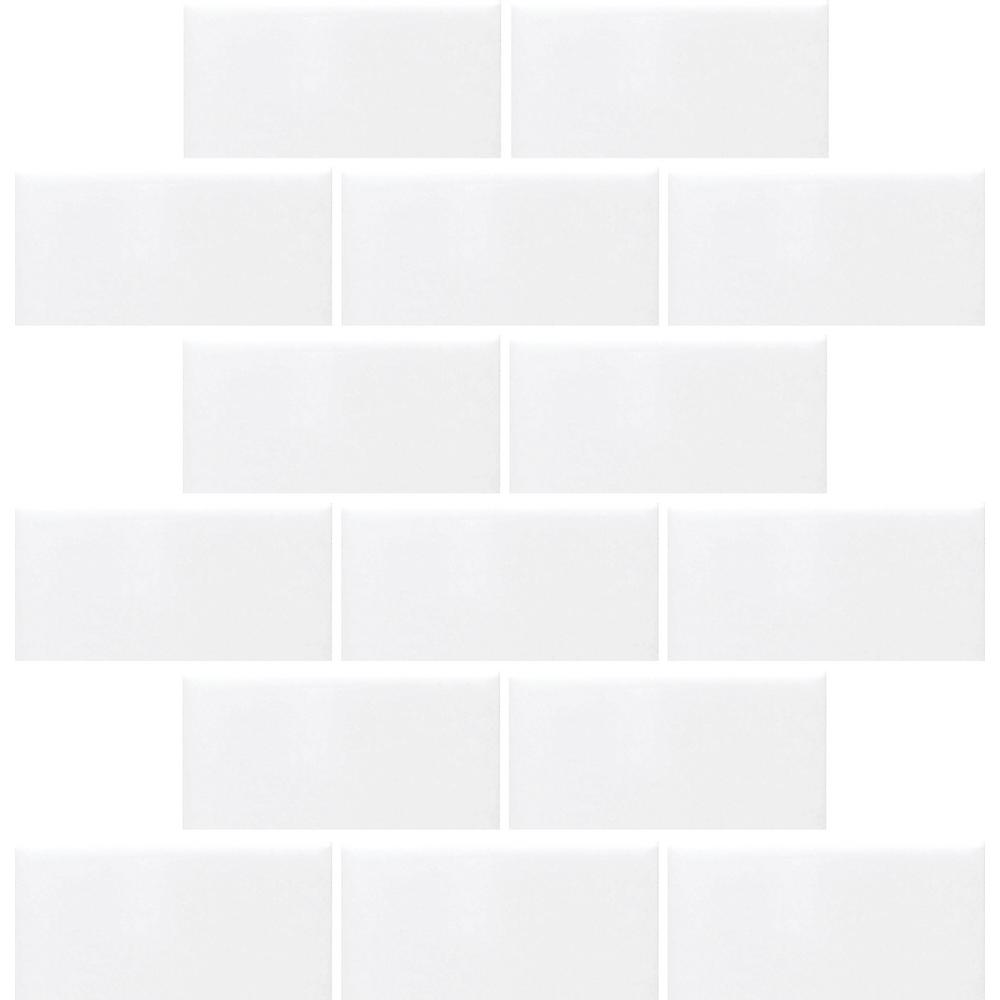Daltile Finesse Bright White 12 in. x 12 in. x 6.35 mm Ceramic ...