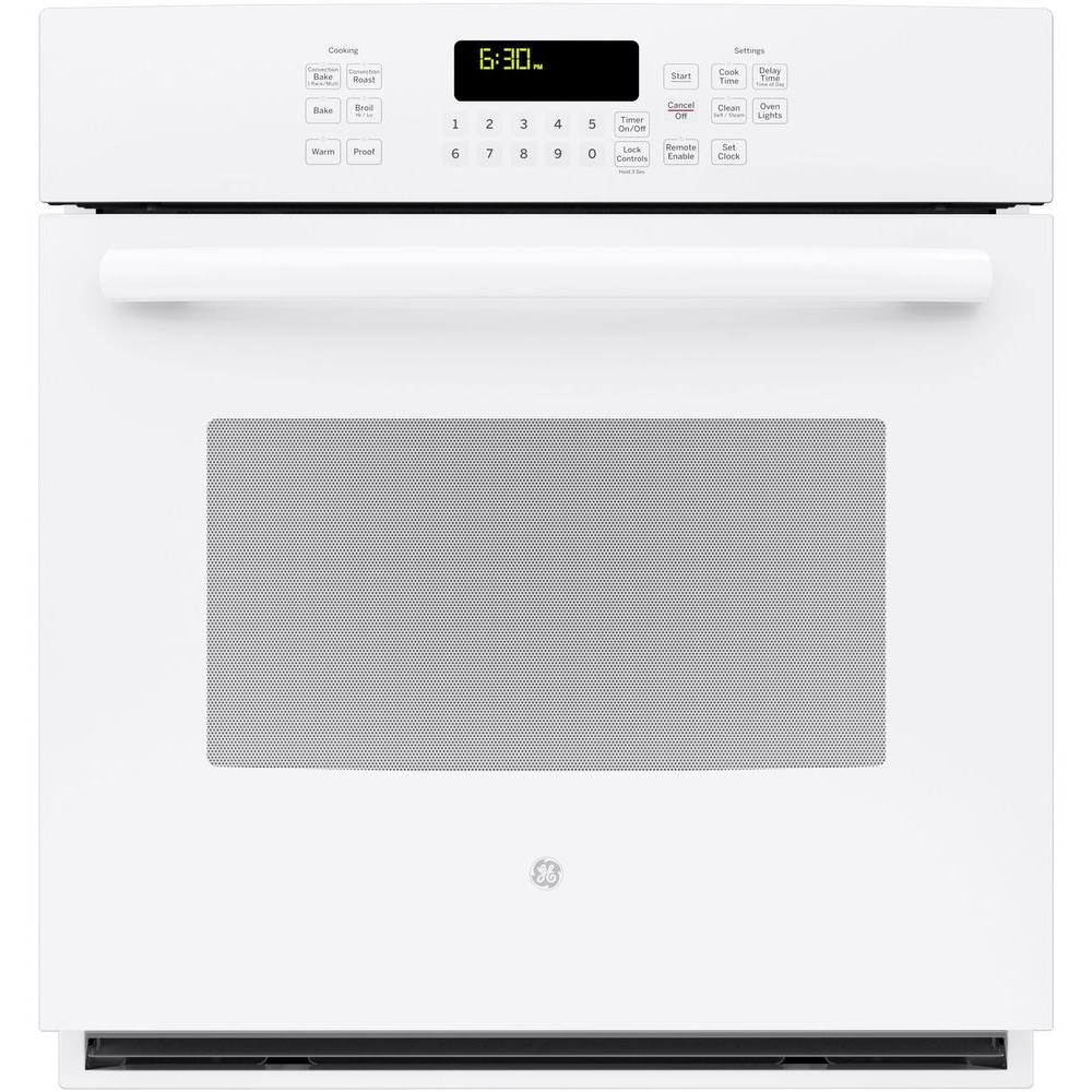27 in. Single Electric Smart Wall Oven Self-Cleaning with Steam Plus