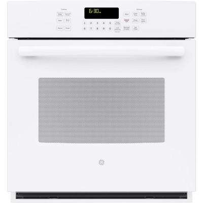 Profile 27 in. Single Electric Smart Wall Oven Self-Cleaning with Steam Plus Convection and WiFi in White