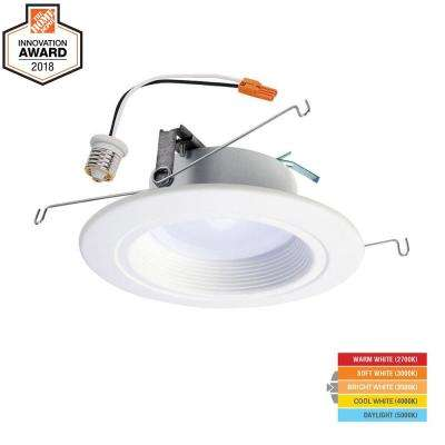 RL 5 in. and 6 in. White Integrated LED Recessed Ceiling Light Trim at Selectable CCT (2700K-5000K), (665 Lumens)
