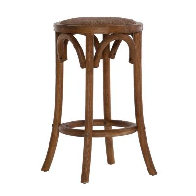 Bradford 24 in. Brown Walnut Backless Counter Stool