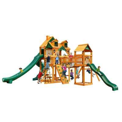 Malibu Treasure Trove II with Amber Posts Cedar Playset