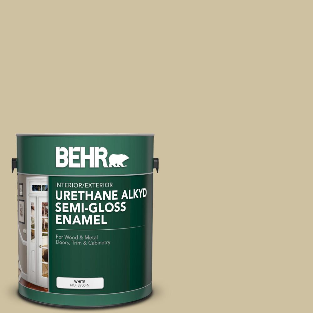 1 gal. #S330-3 Seasoned Salt Urethane Alkyd Semi-Gloss Enamel Interior/Exterior Paint