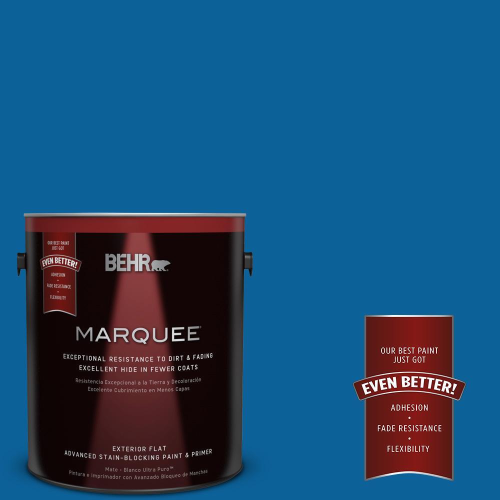 1-gal. #570B-7 Cobalt Glaze Flat Exterior Paint