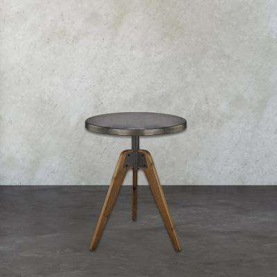 Rolfe Natural Woodtone and Tin End Table