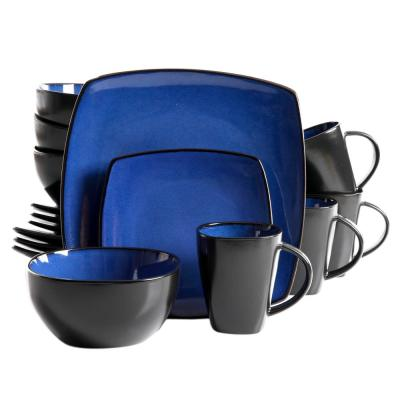 Infinite Glaze 16-Piece Square Dinnerware Set
