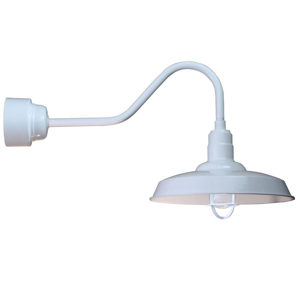 Marvelous Illumine 1 Light Outdoor White Angled Arm Wall Sconce With Frosted Wiring Digital Resources Bioskbiperorg