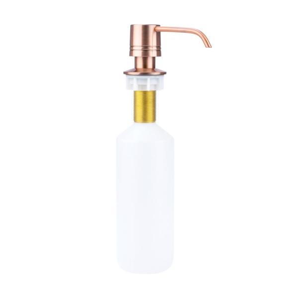Deck-Mounted Soap Dispenser with Straight Nozzle in Antique Copper