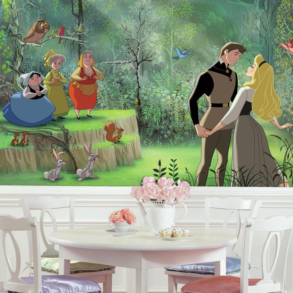 72 in  x 126 in  Disney Princess Sleeping Beauty XL Chair. Wall Decor at the Home Depot