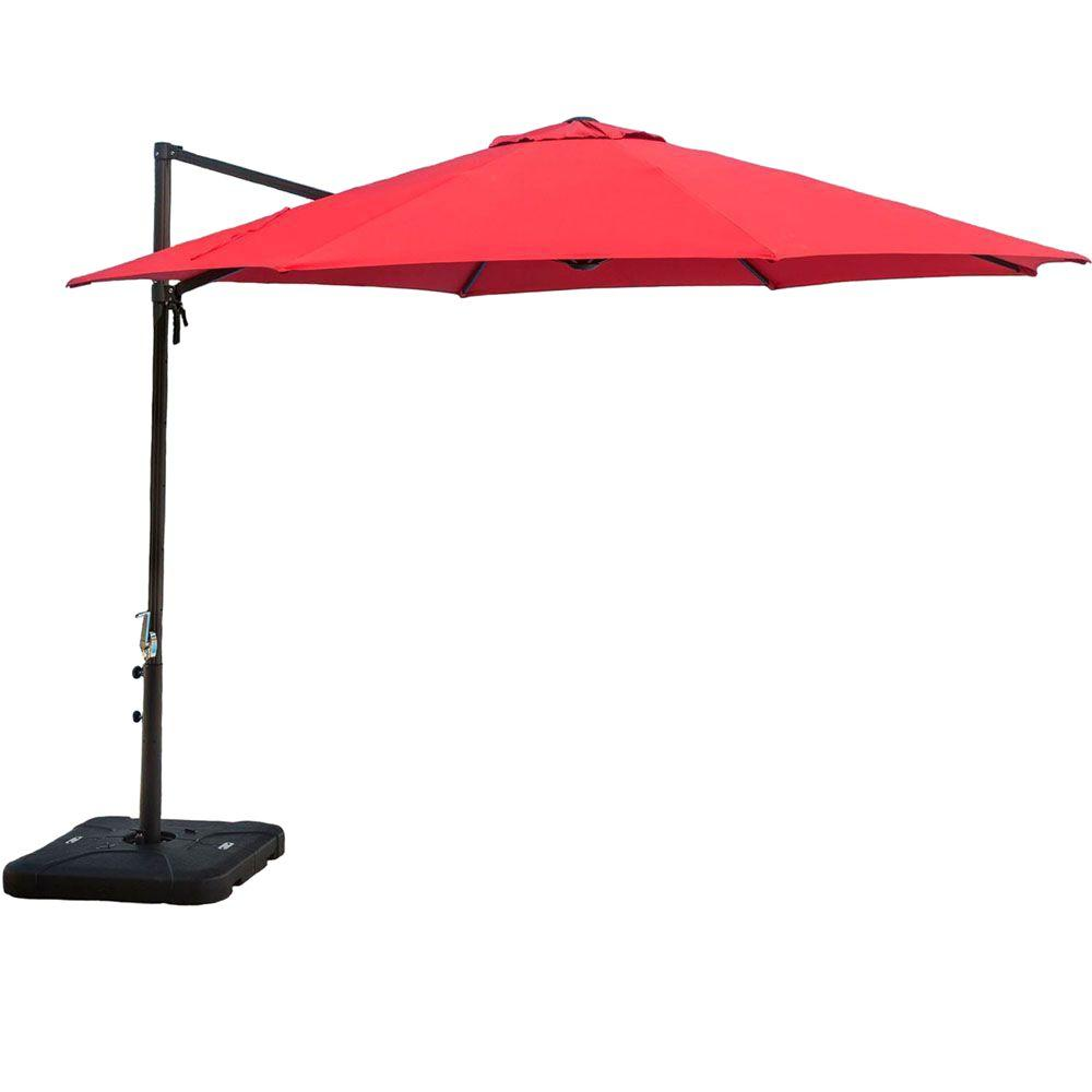 Hanover 11 Ft Cantilever Patio Umbrella In Red Cantilever