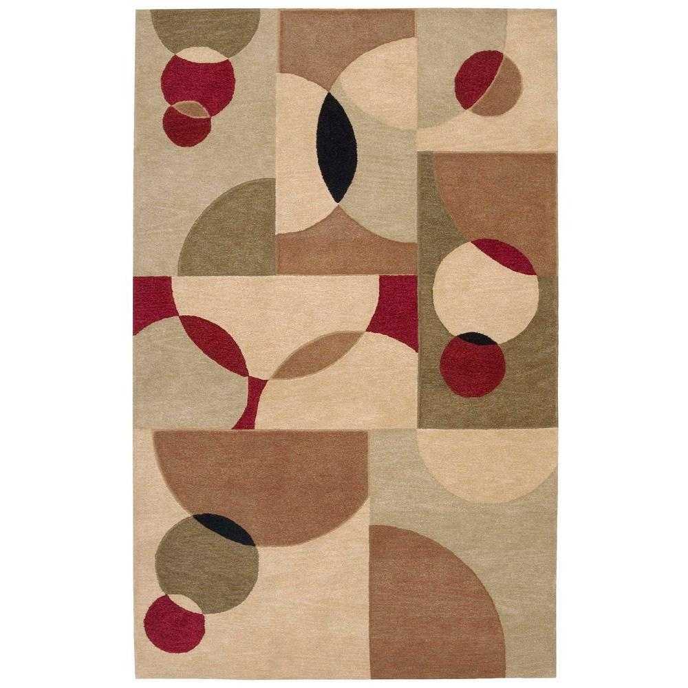 Nourison Overstock Aspects Beige 3 ft. 9 in. x 5 ft. 9 in. Area Rug