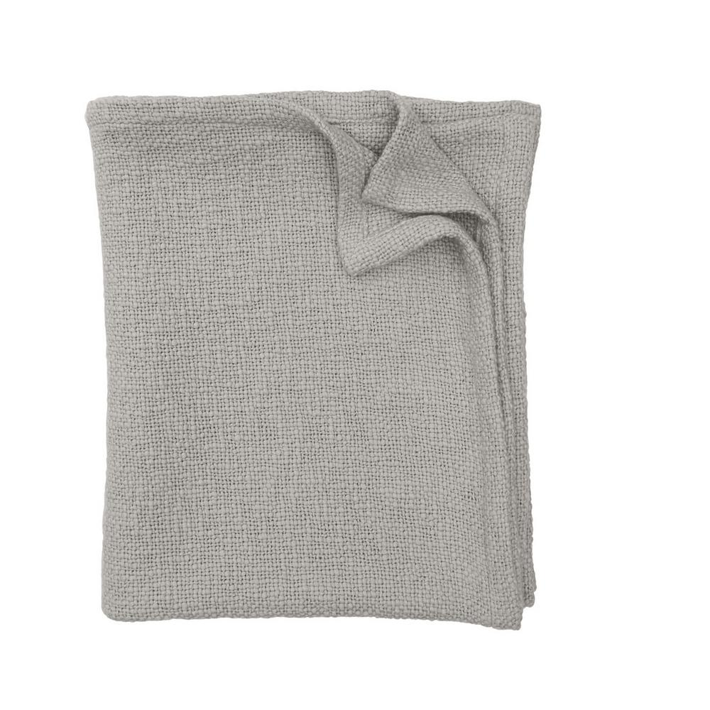 The Company Store Shadow Gray Cotton Queen Cloud Blanket