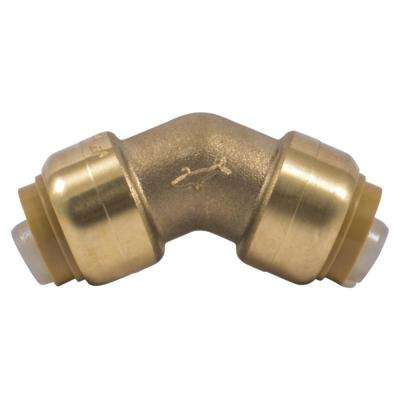 1/2 in. Brass Push-to-Connect 45-Degree Elbow