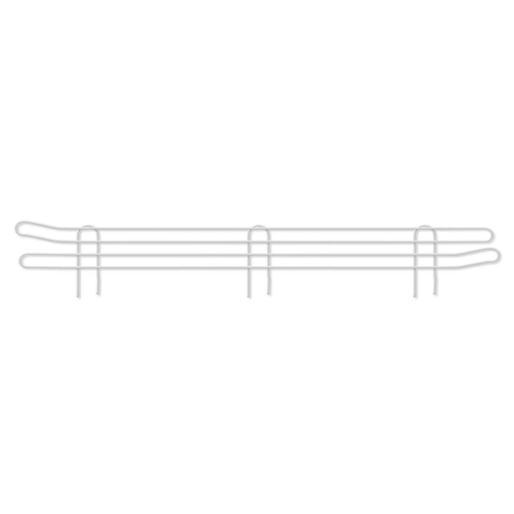 Honey-Can-Do 36 in. Steel Shelf Anti-Slide Screen in White