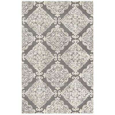 Glamour Dark Gray/Ivory 5 ft. x 8 ft. Area Rug