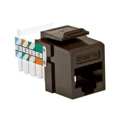 QuickPort HOME 5e Snap-In T568A/B Wiring Connector, Brown