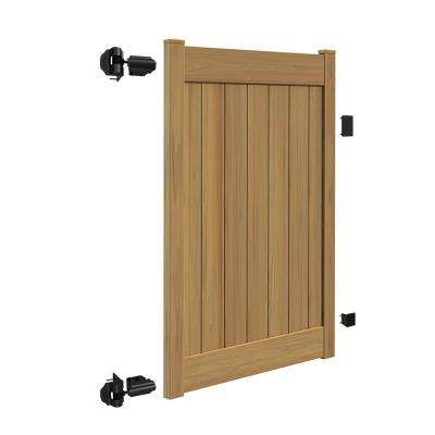 Linden 4 ft. W x 6 ft. H Cypress Vinyl Un-Assembled Fence Gate