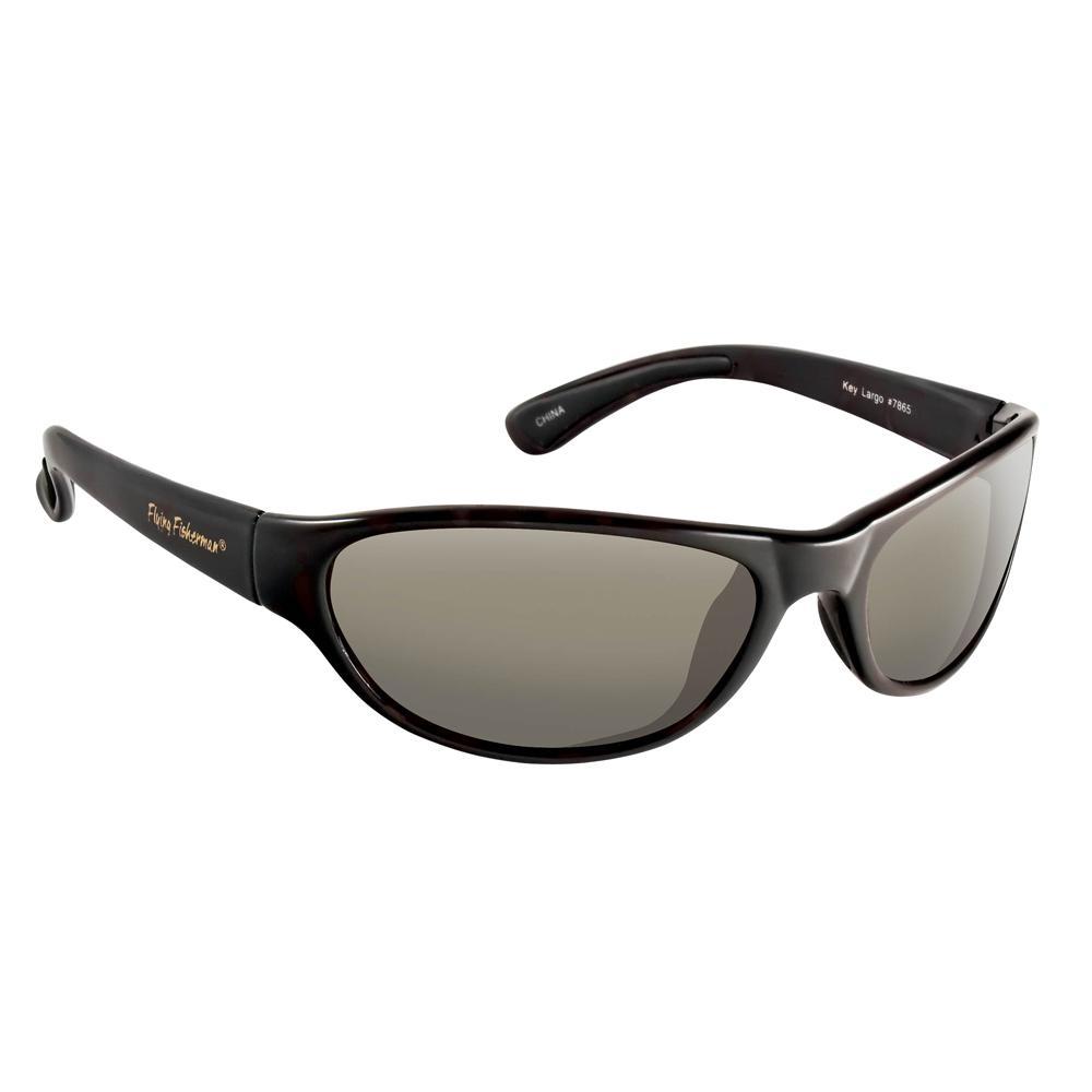 0392e6ffeb Key Largo Polarized Sunglasses Black Frame with Smoke Lens · Flying  Fisherman ...