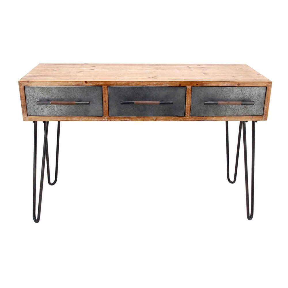 ZUO Metal Antique Console Table A10675 The Home Depot