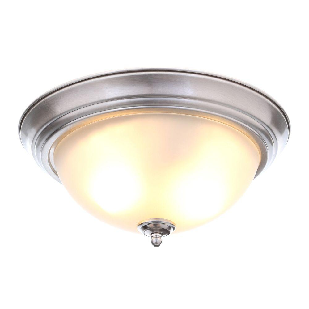 Light Brushed Nickel Flush Mount
