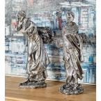 Trading African Lady Polystone Sculpture (Set of 2)