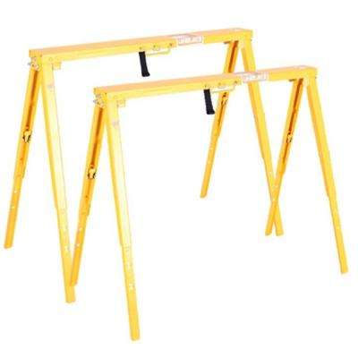 Fine 34 In Adjustable Folding Sawhorse 2 Pack Machost Co Dining Chair Design Ideas Machostcouk