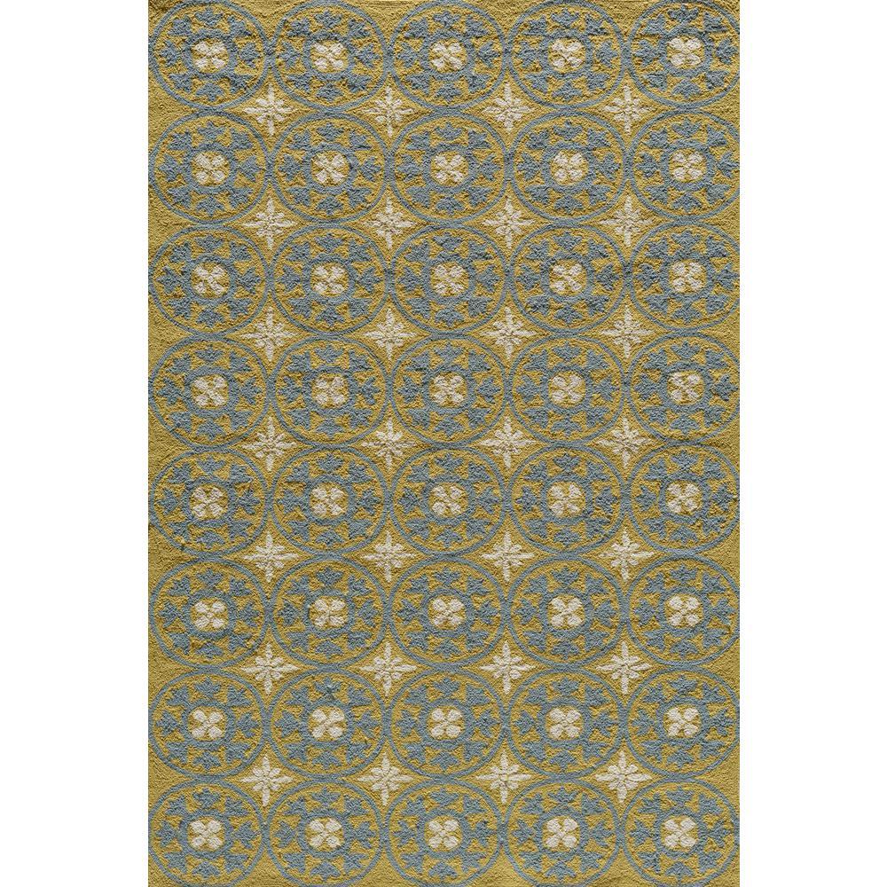 Veranda Yellow 5 ft. x 8 ft. Indoor Area Rug