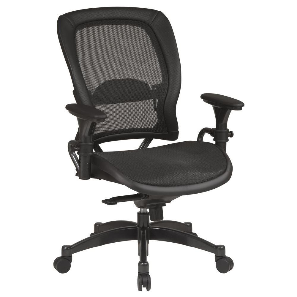 Space Seating Black & Gunmetal Office Chair