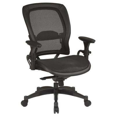 Black & Gunmetal Office Chair