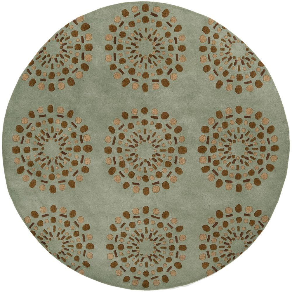 Gibbon Spa Blue 8 ft. x 8 ft. Round Area Rug