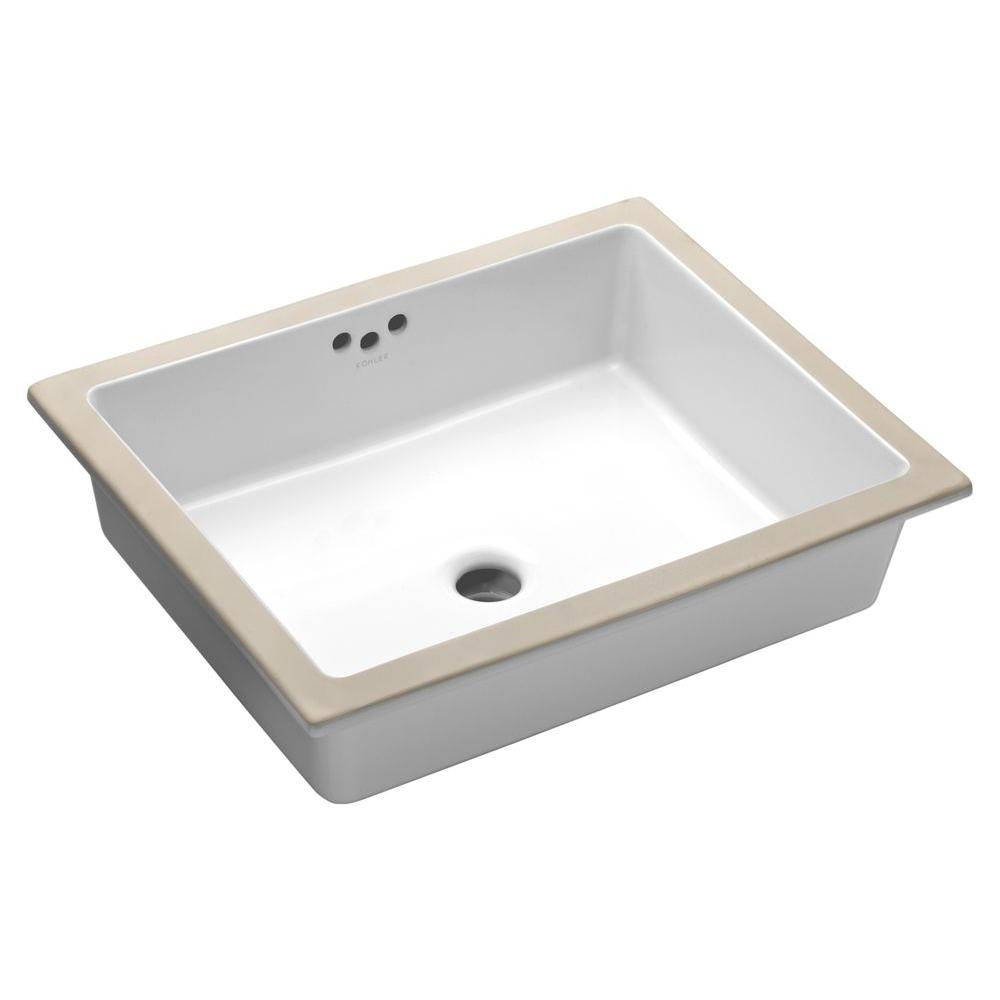 Kathryn Under-Mounted Vitreous China Bathroom Sink with Glazed Underside in